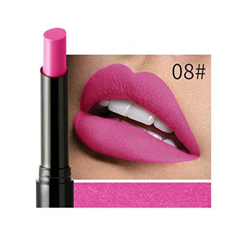 Rouge à lèvres Velvet Matte Lipstick Imperméable Crayon Longue Durée 16 Couleur (#08)