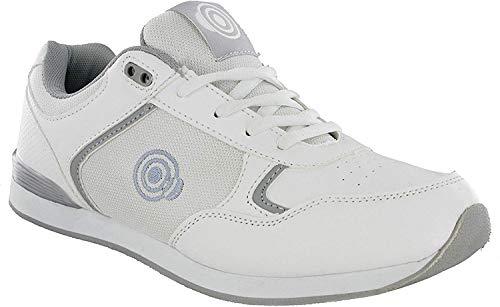 (8 UK, White /Grey) - DEK JACK Mens Lace Up Bowling Shoes/Trainers White/Grey