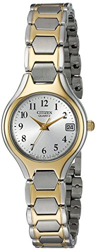 Citizen Women's Quartz Two-Tone Watch with Date, EU2254-51A