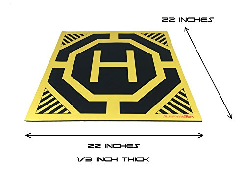 XL Drone, Quadcopter Landing Pad - 22' x 22' - Highly Visible Design,...