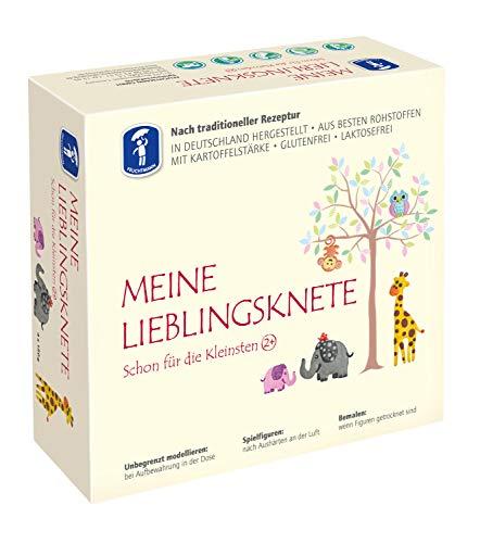 Feuchtmann Spielwaren 6281513 - MEINE LIEBLINGSKNETE aus besten Rohstoffen, 4 Dosen á 150 g - lufttrocknende Modelliermasse