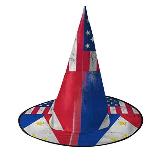 Sombrero de bruja de la bandera de Amrica filipina disfraz de Halloween Cosplay malvado accesorio de bruja para nios y adultos