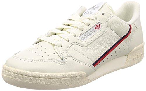 Adidas Herren Continental 80 Fitnessschuhe, Weiß (Tinbla/Casbla/Escarl 000), 46 2/3 EU