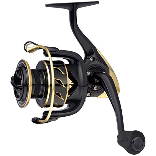 KastKing Sharky III Gold Fishing Reel, Aluminum Alloy Body Spinning Reel, 5.2:1 Gear Ratio, Up to...