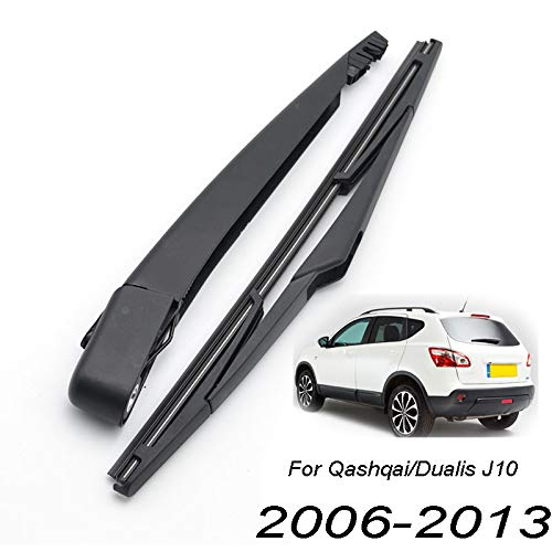 Xukey - Juego de limpiaparabrisas trasero y brazo para Qashqai J10 2007 2008 2009 2010 2011 2012 2013 (1 juego)