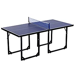 ✅No assembly needed, ideal for small rooms, office entertainment or holiday outings ✅Folding design, each half separates for easy storage ✅Metal frame of the table provides durability and stability ✅Net rack and net are included as accessories ✅Overa...