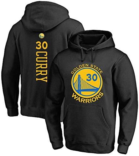 ZSPSHOP Sudadera de baloncesto para hombre de la NBA Warriors No.30 Curry Jersey con capucha suelta para baloncesto (color negro1, tamaño: XXL)