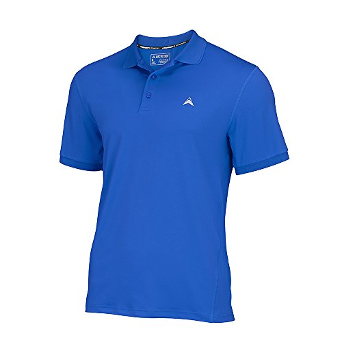 Arctic Cool Men's Polo Instant Cooling Moisture Wicking Performance UPF 50+ Shirt | Lightweight Breathable Polo for Golf, Office, Work, Dress, Dinner, Polar Blue (2017), XL