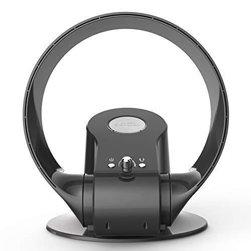 Wan&ya Ventilador sin aspas, Ventilador montado en la Pared Ventilador de enfriamiento silencioso portátil con Control Remoto con Temporizador de Apagado Ventilador de Mesa de 3 velocidades,Negro