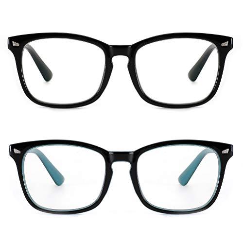 Cyxus 2 Pack di occhiali blu di blocco della luce, anti luce blu rivestimento e anti-affaticamento degli occhi mal di testa occhiali da gioco unisex