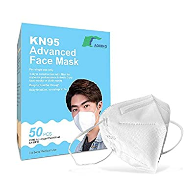 KN95 Advanced Filtration Respirator Face Masks (50 Pack) | On FDA EUA list | > 95% Filtration | Type FFP2 - CE Certified to EN149 from Aoxing