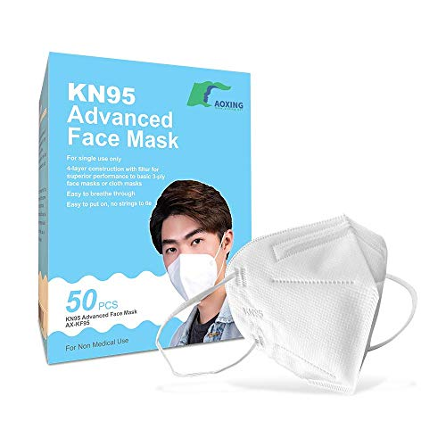 KN95 Advanced Filtration Respirator Face Masks (50 Pack) | On FDA EUA list |  95% Filtration | Type FFP2 - CE Certified to EN149