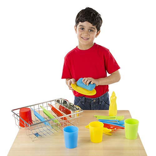 Melissa and Doug Let's Play House! Wash and Dry Dish Set