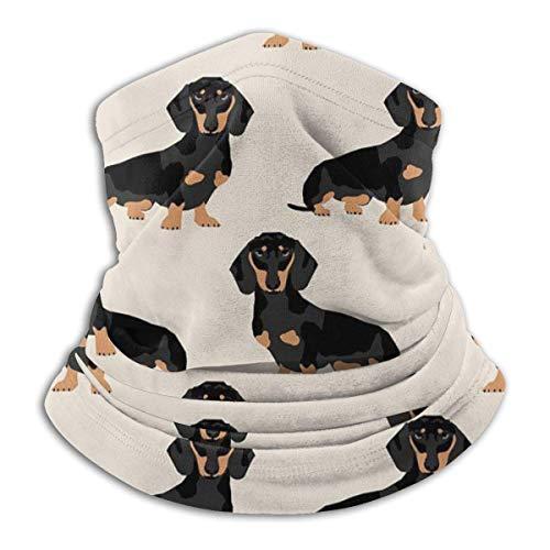 Wiener Dog Tissu Polaire Cou Réchauffeur-Réversible Cou Gaiter Tube Polyvalence Oreille Réchauffeur Bandeau & Masque Pour Hommes Et Femmes