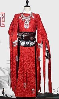 天官は花城コスプレ謝怜服装男女太子悦神古セットを祝福した ウィッグ付属 (白+ウィッグ, XL)