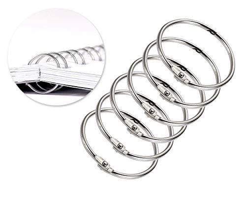 potente para casa FGF – 10 anillas de metal para encuadernar álbumes de fotos, encartes,… a 5 cm