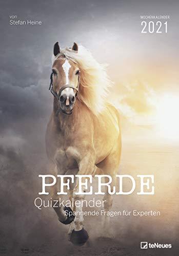 Stefan Heine Pferde Quizkalender 2021 Wochenkalender - Quizkalender - Rätselkalender - Jede-Woche-neue-Rätsel - Tierkalender - 23,7x34