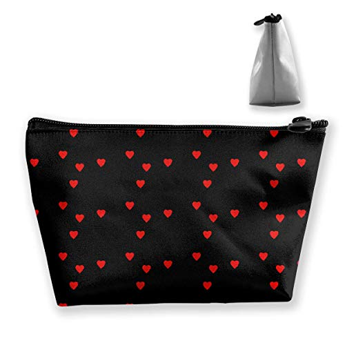 Atom Heart Science Heart Pattern Portable Travel Makeup Bags Shaving Kit Buggy Bag Organizers