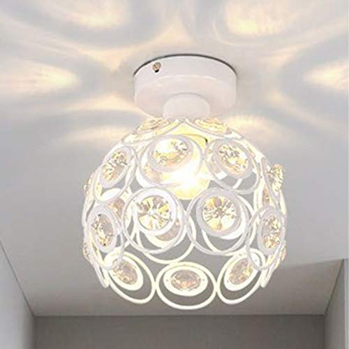 DEBEME Kristall Deckenleuchte Schatten, Marokkanischen Stil Kugel Decke Lampenschirm, Moderne Eisen Kristall Licht Leuchten, mit E14-Sockel, für Schlafzimmer Wohnzimmer Flur