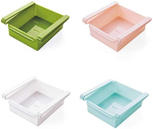 Estantes para cajones refrigerados de 4 piezas, organizador para estante, separador, acabado multiusos, caja de almacenamiento para clasificación, para refrigerador, congelador de cocina