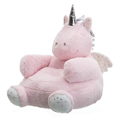 Puff Unicornio Rosa de Microfibra Infantil para Dormitorio Child - LOLAhome