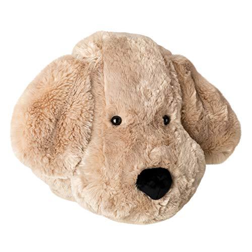 Knuffelz Stofftier Hund Wilfred Wuff zum kuscheln - Wanddeko Tierkopf Trophäe für Kinderzimmer