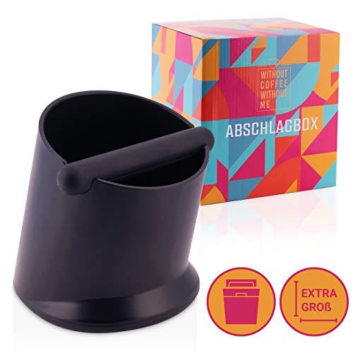 Nouten® Premium – Depósito para posos de café con barra amortiguadora de ruido – Caja para posos de café – Recipiente de pulpa con gran volumen – 2 años de devolución de dinero