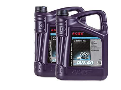 ROWE - 2x 5 Liter HIGHTEC SYNTH RS SAE 0W-40 Motorenöl - Motoröl für moderne und sportliche Pkw-Otto- oder Dieselmotoren, mit und ohne Turboaufladung