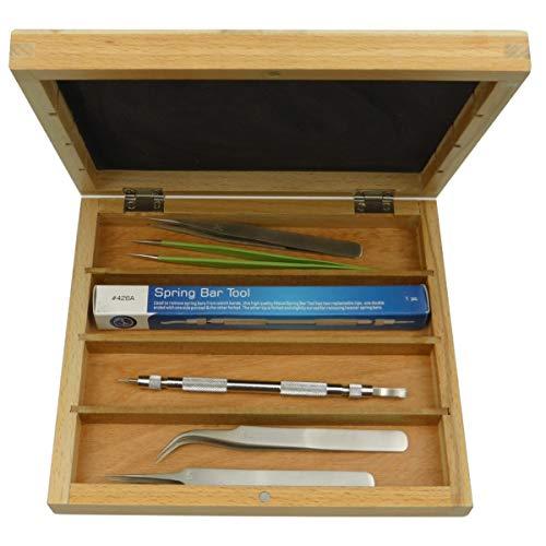 Uhrmacher-Furnituren-Box S1 Deluxe C4 für Uhrenwerkzeug, Armbänder, Uhrenteile etc