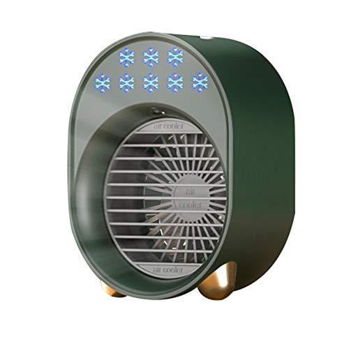 Qagazine Refrigerador de aire, ventilador portátil recargable con 3 velocidades, humidificador evaporativo inalámbrico para oficina en casa