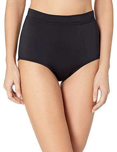 Coco Reef Power Pant High Waisted Bikini Bottom — Figure Flattering Swimsuit Bottom, Black, Medium