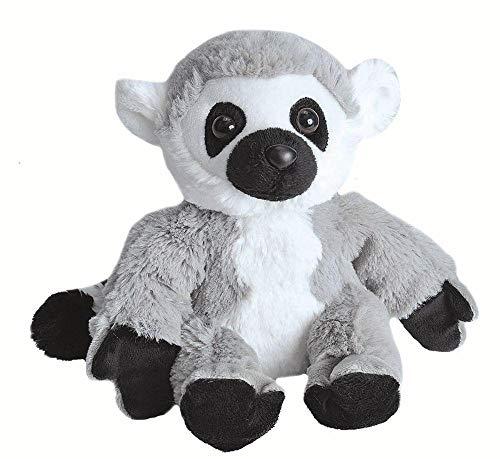 Wild Republic Hug 'ems Plüschtier, Kuscheltier, Ringelschwanz Lemur, Katta 18 Cm