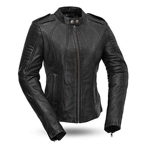 First MFG Co.- Biker- Women's Motorcycle Leather Jacket |Women's Leather Jacket for Ridding