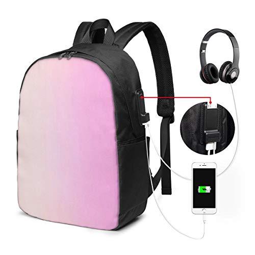 ラップトップバックパック USBポート スクールリュックサック 15.6インチ ラップトップ に適合 ピンクオンブルガーリーメイク