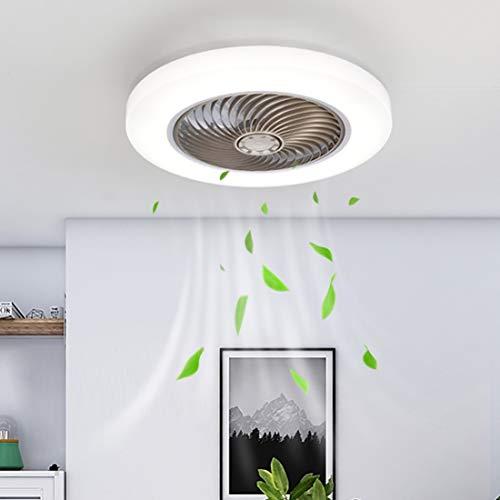 YHXUANTE Ventilador De Techo Luz con LED Iluminación, 38W Moderno Regulable con Control Remoto Lámpara De Techo LED Ventilador Dormitorio Silencioso Comedor Lámpara De Ventilador Ø45CM (Color : Gold)