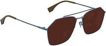 Fendi Brown Rectangular Sunglasses (FF M0022/F/S MVU/70 59)