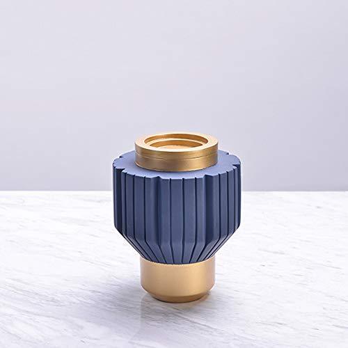 DICSVL Candelabro 1-Soporte de Vela Armada Azul Retro Resina Candelebra Decoración Creativa Artesanía Romántico Cena de Candlelight Props | Adecuado para Velas de Columna | Altura: 13 / 22cm