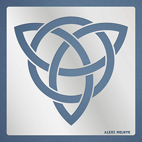 Aleks Melnyk #110 Metal Stencil/Celtic Trinity Knot/Wicca, Irish Stencil, 1 PCS/Template for Painting, Wood Burning, Wood Carving, for Embroidery/Scandinavian, Viking Symbol/Sacred Geometry Art
