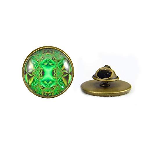 Sunshine - Broche de caleidoscopio de Lima, Mandala árabe, Arte Espiritual, Regalo para él o para Ella