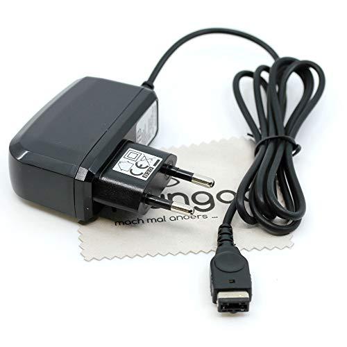 Ladegerät passend für Nintendo DS, Nintendo Gameboy Advance SP Ladekabel Kabel Netzladegerät OTB mit mungoo Displayputztuch