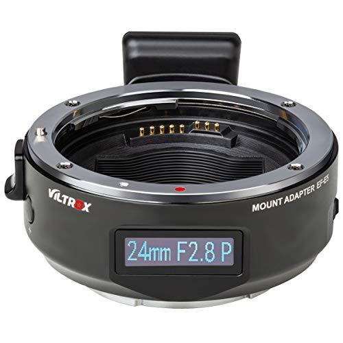 VILTROX EF-E5 - Adaptador de montura de lente de enfoque automático OLED...