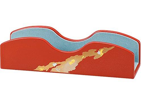 中谷兄弟商会 山中漆器 めがねスタンド 純金箔古代朱 彩光33-3205