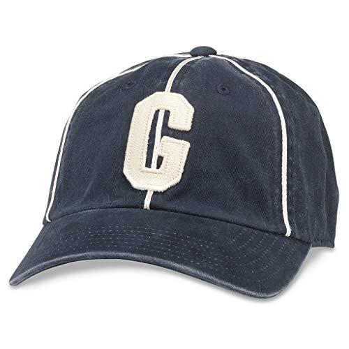 AMERICAN NEEDLE Archive Negro League Team Vintage Baseball Dad Hat, Homestead Grays, Navy