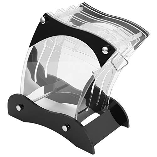 Hemoton Messerblock Acryl Transparent Messerhalter mit 7 Löcher Messerständer für Küchenmesser Keramikmesser Küchenhelfer Kochzubehör