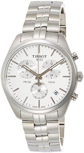 Tissot Herren-Uhren Analog Quarz One Size Silber Edelstahl 32001346