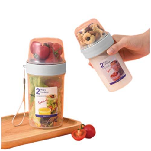 YQY Conjunto de 2 contenedores de Cereales para Almacenamiento, plástico BPA Cocina Free Cocina Pantry Almacenamiento, LOS Mayores DE Alimentos Secos Grande para Polvo DE Leche