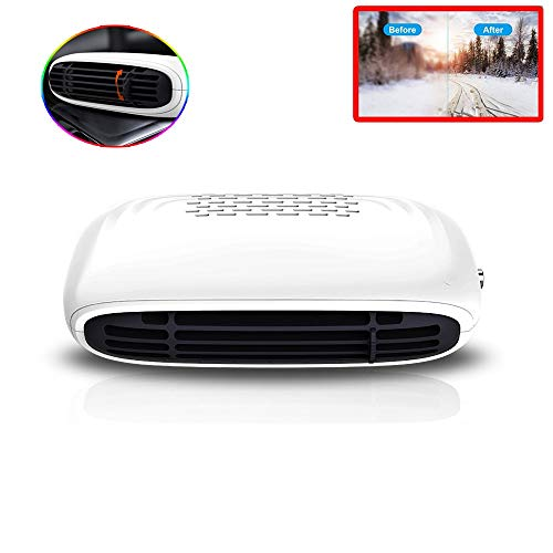 Portable Car Heater, Windshield Car Vehicle Defogger 12v150w Fast Heating Defrost Defrosting Windscreen Fan Plug in Cigarette Lighter Best Gift for Winter