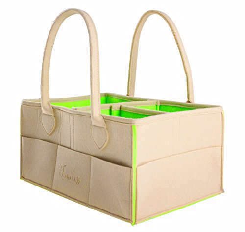 Secure All Caddy | Large Soft Eco-Friendly Nursery Organizer Diaper Caddy for Baby Needs, Arts, Office & School Supplies, Knitting, Sewing Supplies, Car Organization & More (2 Caddies)