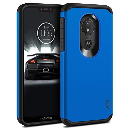 BEZ Cover Moto G7 Power, Custodia per Motorola Moto G7 Power Rigida Protettiva con Impact [Antiurto, Assorbimento-Urto] Bumper Protezione da Cadute e Urti Posteriore, Blu Navy