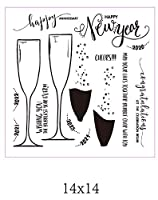 ワイングラス透明クリアシリコンスタンプ/DIYスクラップブッキング用シール/フォトアルバム装飾クリアスタンプシートB0518